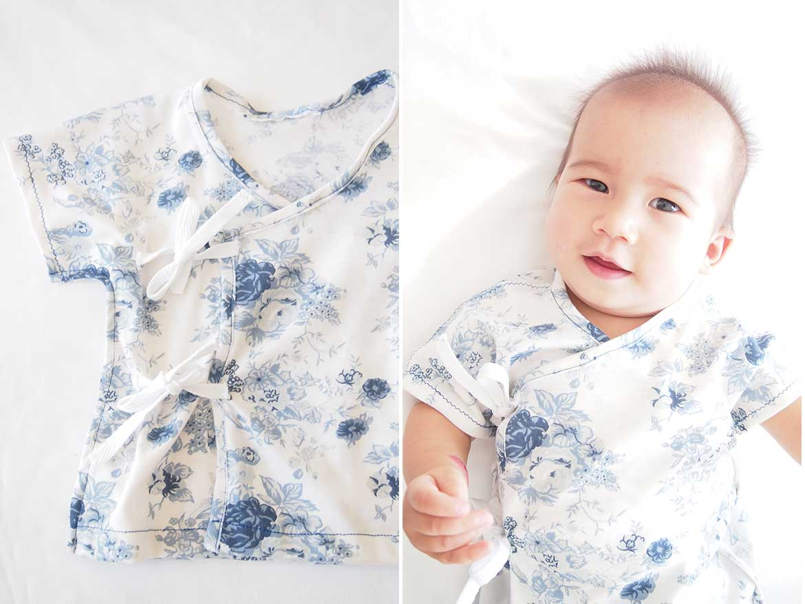 Child s Kimono Knitting Pattern : Free Sewing Pattern: Soft and Cosy Baby Kimono - Sew in Love