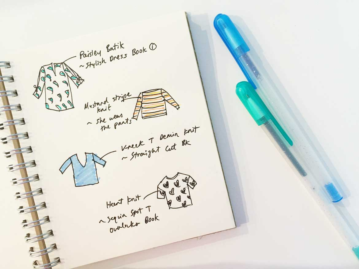 I love drawing all the things I want to sew!