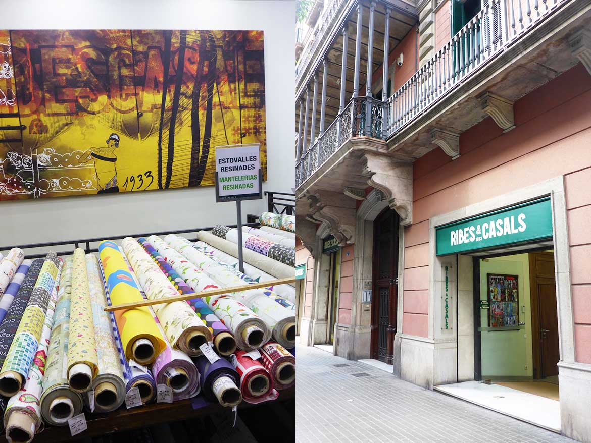 I was in Barcelona shopping for fabric. Check out all my gorgeous fabric finds!