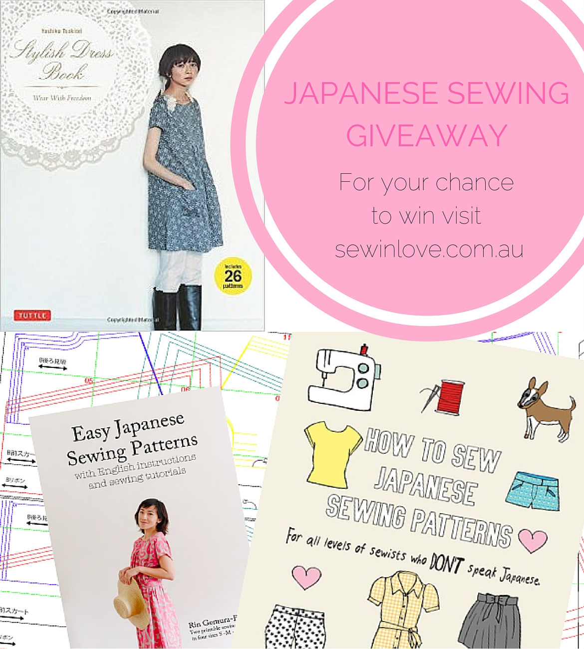 "Win your very own copy of ""Stylish Dress Book"" sewing patterns and the ebook, ""How to Sew Japanese Sewing Patterns"". Enter to win at www.sewinlove.com.au"