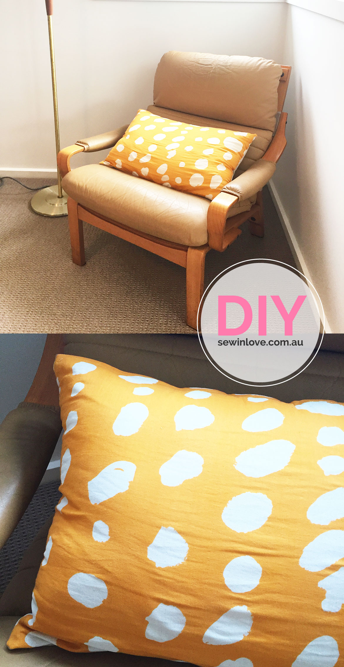 DIY Thorw PIllow | This simple pillow is made special by the beautiful fabric by Nani Iro. It's a Japanese fabric brand that designs gorgeous, natural fabrics.