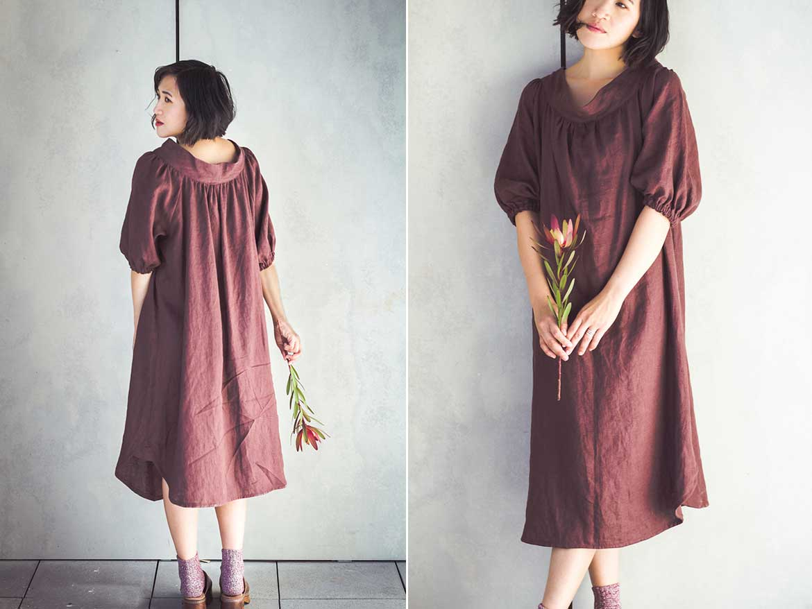 Finished! Smock Dress in Oh-so-soft Linen from Merchant and Mills