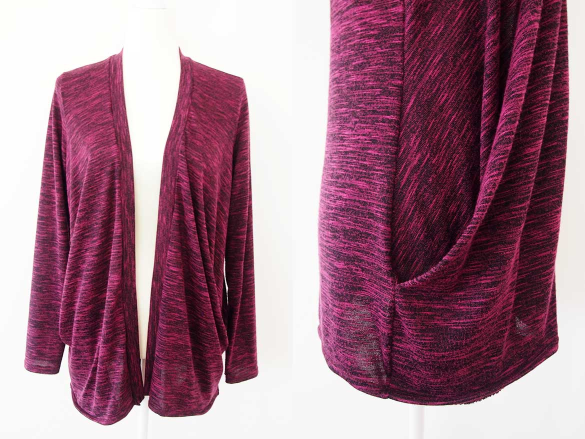 473aac77b Stylearc Simone Cardigan Review - This open front cardigan sewing pattern  is very easy and comes