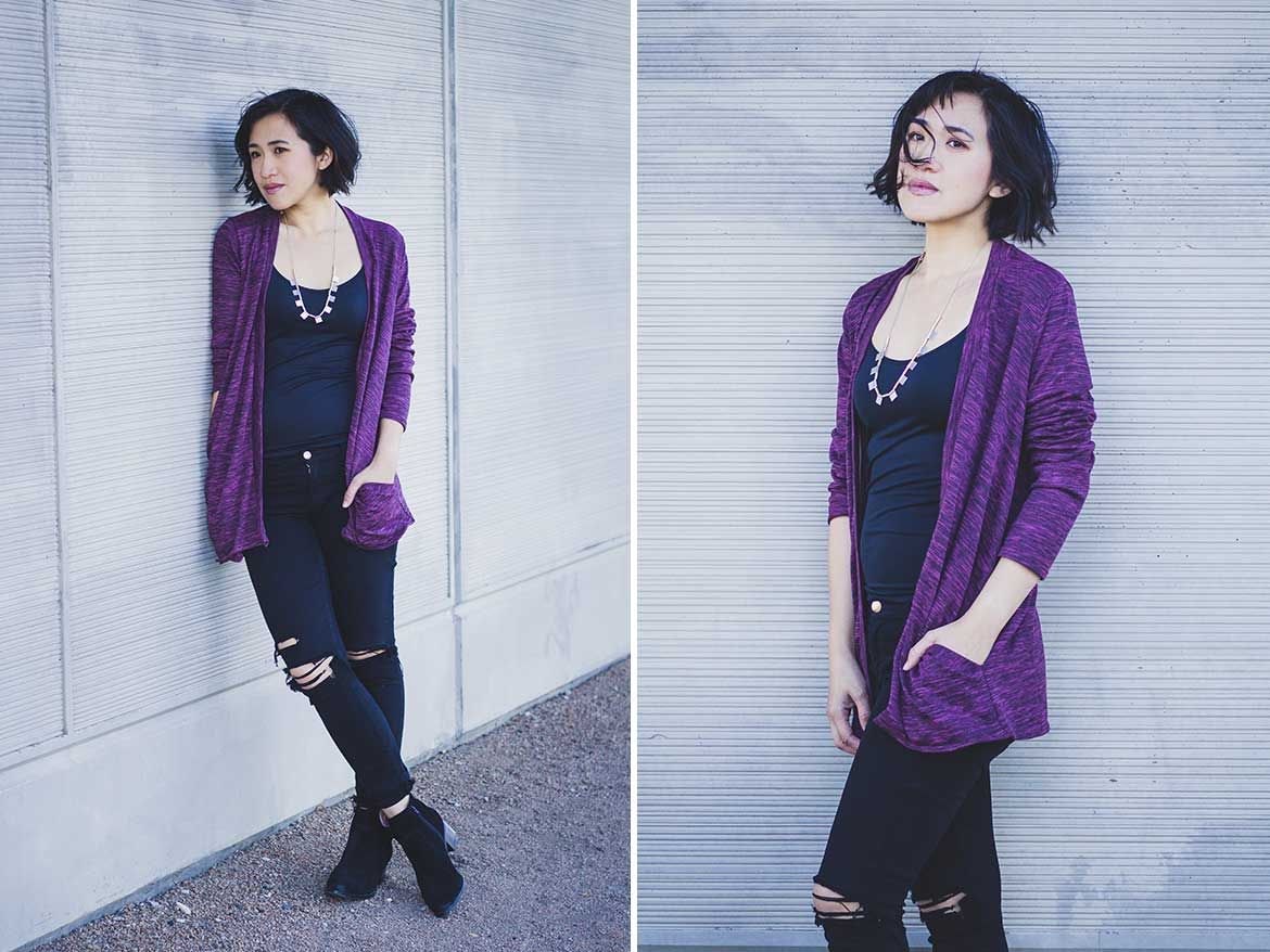 Stylearc Simone Cardigan Review - This open front cardigan sewing pattern is very easy and comes together very quickly!