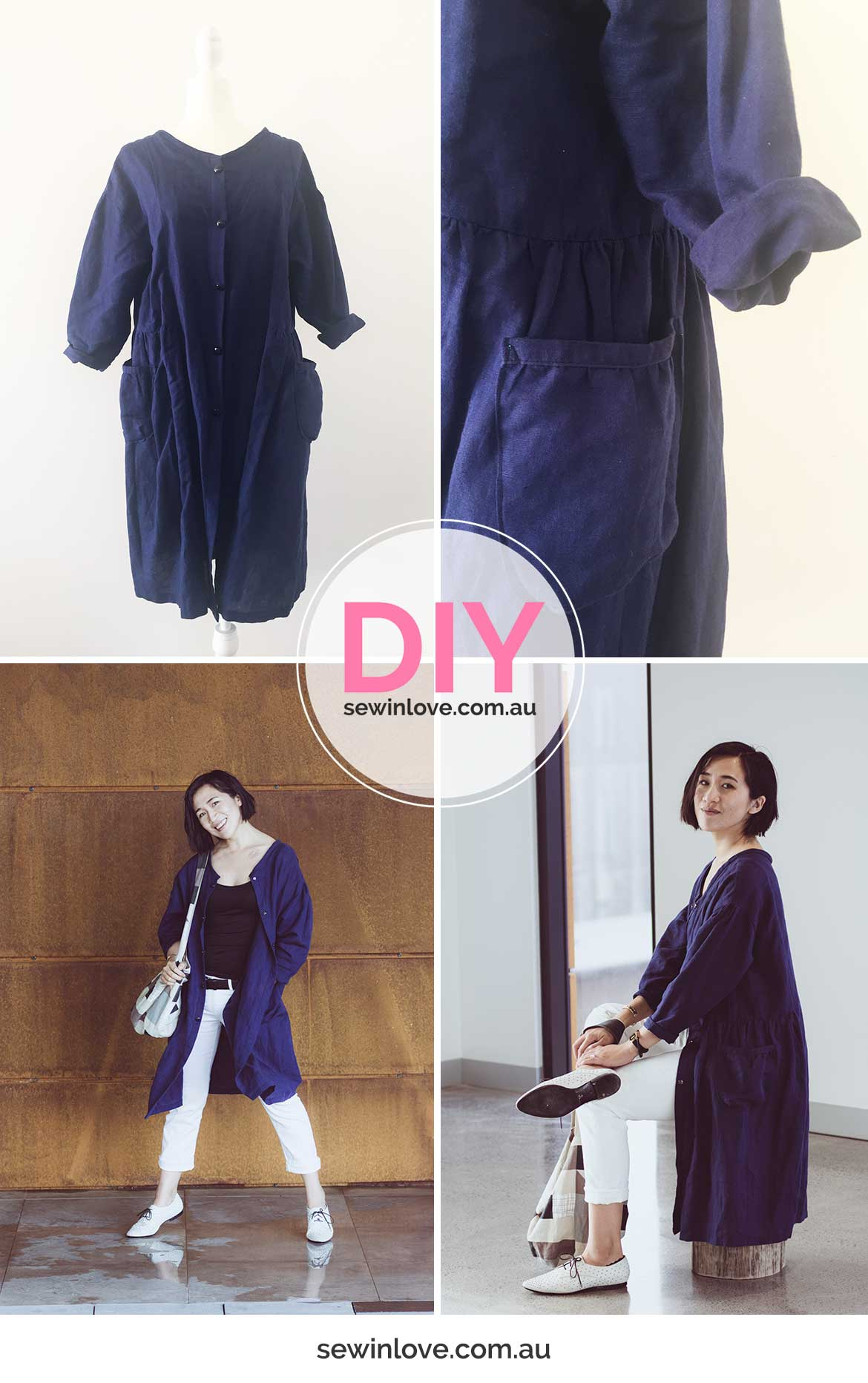 e6a447ac5c5 Japanese Pattern Review  Linen Shirt Dress from Simple Chic - Sew in ...