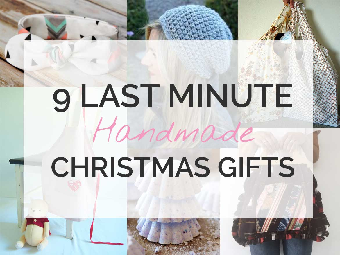 Need a last minute handmade gift idea? Here's 9 Christmas presents you can whip up in no time!