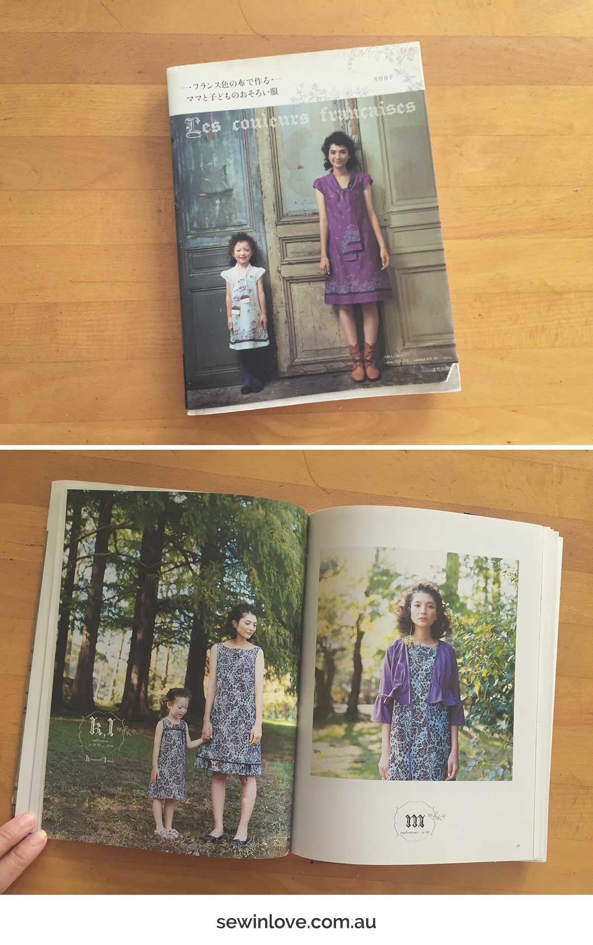 Mother Daughter Dress Patterns | This Japanese sewing pattern book is full of cute matching oufits to sew for mamas and bubs. Click through for a book review!