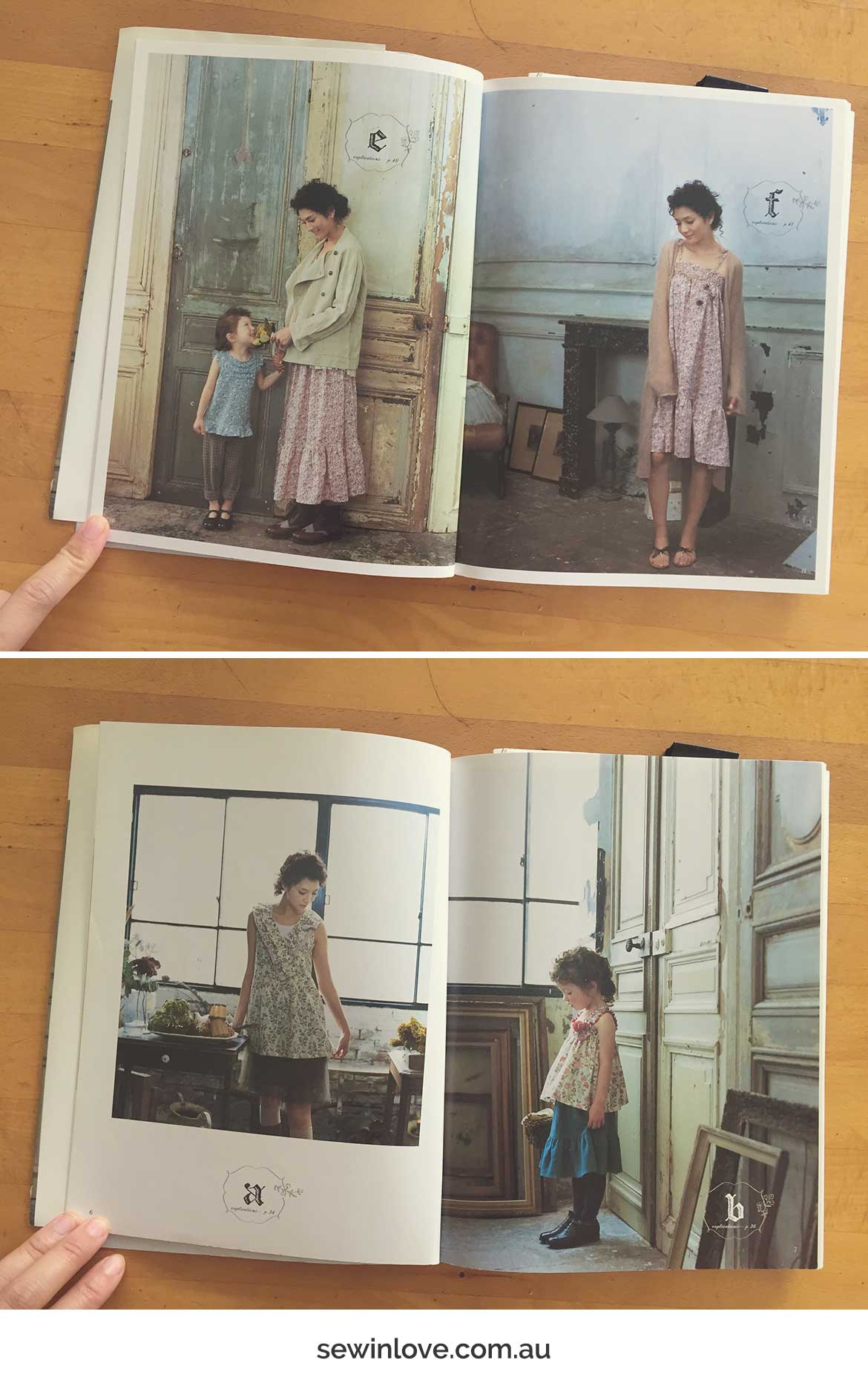 Mother Daughter Dress Patterns | Book review of a Japanese sewing book full of coordinated outfits for Mama and bub.