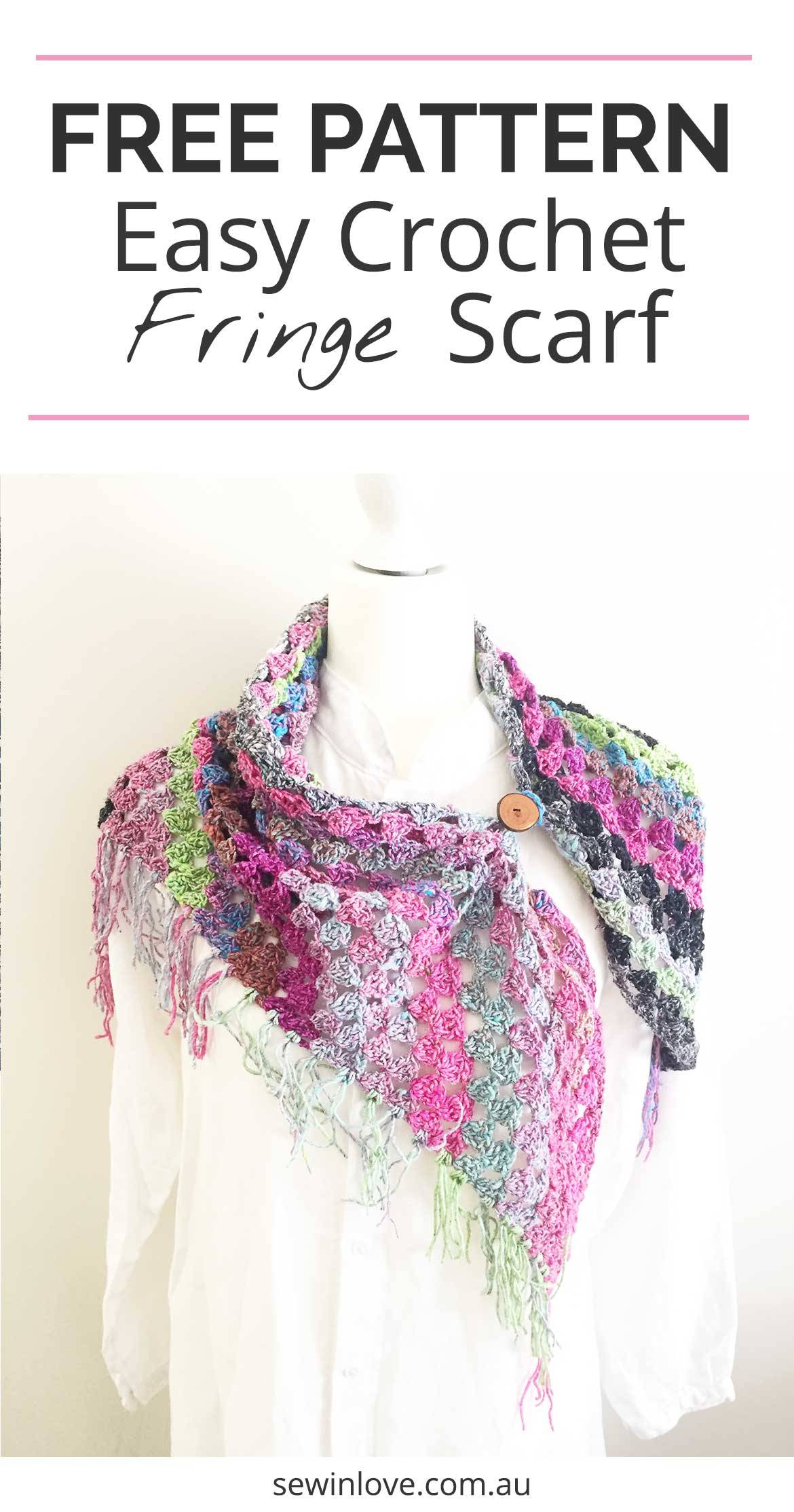 FREE Crochet Scarf Pattern: This easy scarf pattern includes a free video tutorial which shows you how to crochet. I made mine using Noro silk and wool yarn.