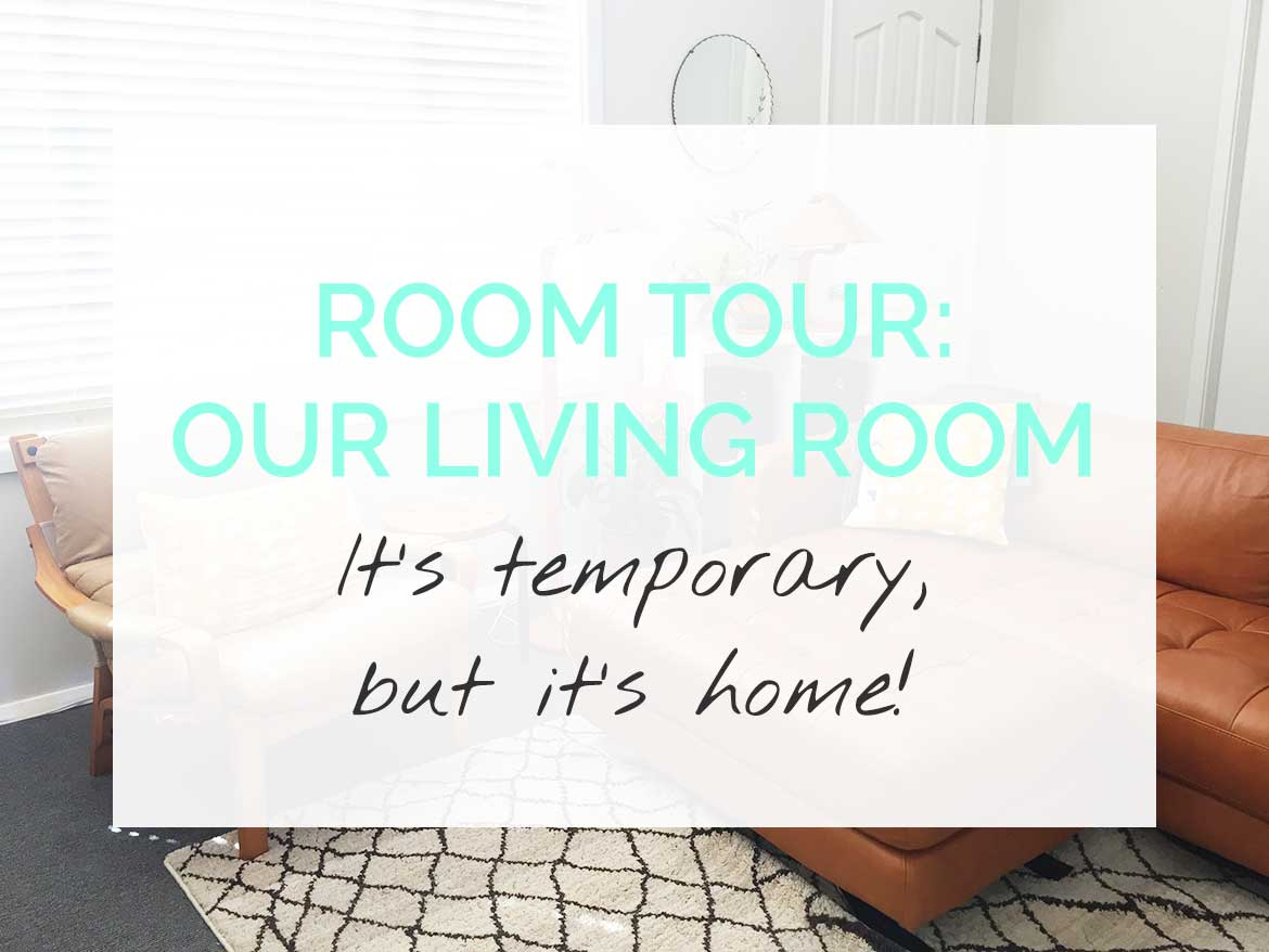 Tour our living room - full of vintage and secondhand furniture and handmade things.