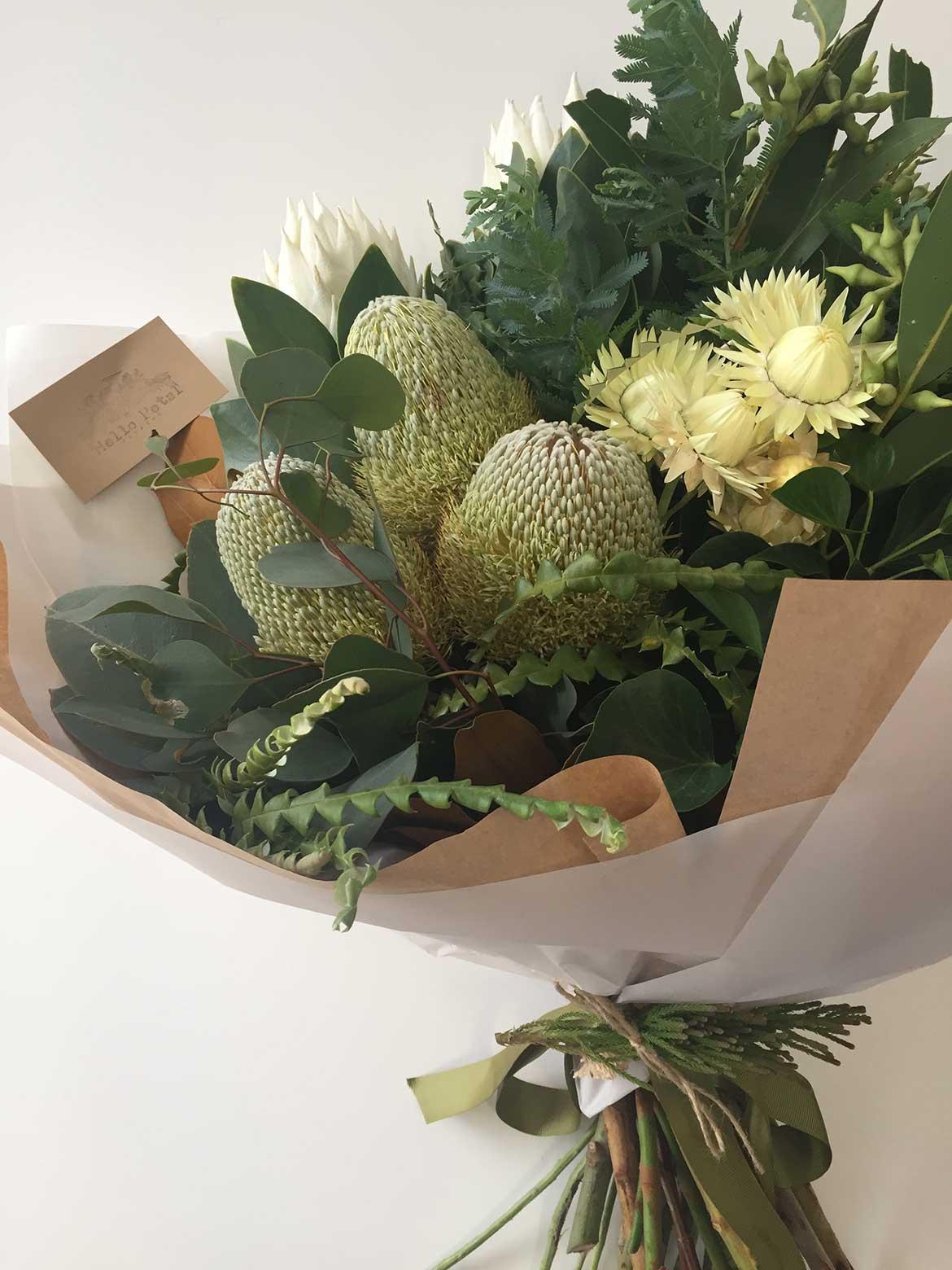 Bouquet of Australian native flowers.