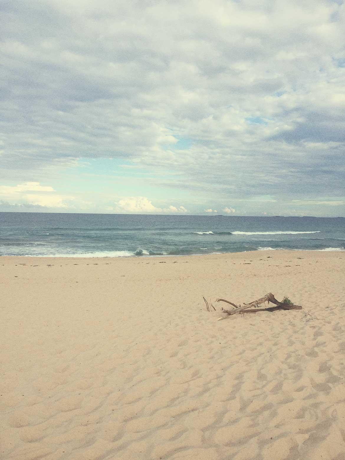 Beautiful Australian beach, completely deserted.