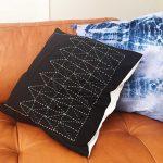 Free Sashiko Pattern: Make a Japanese embroidered pillow!