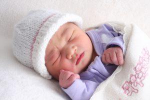 Cute Eurasian baby girl.