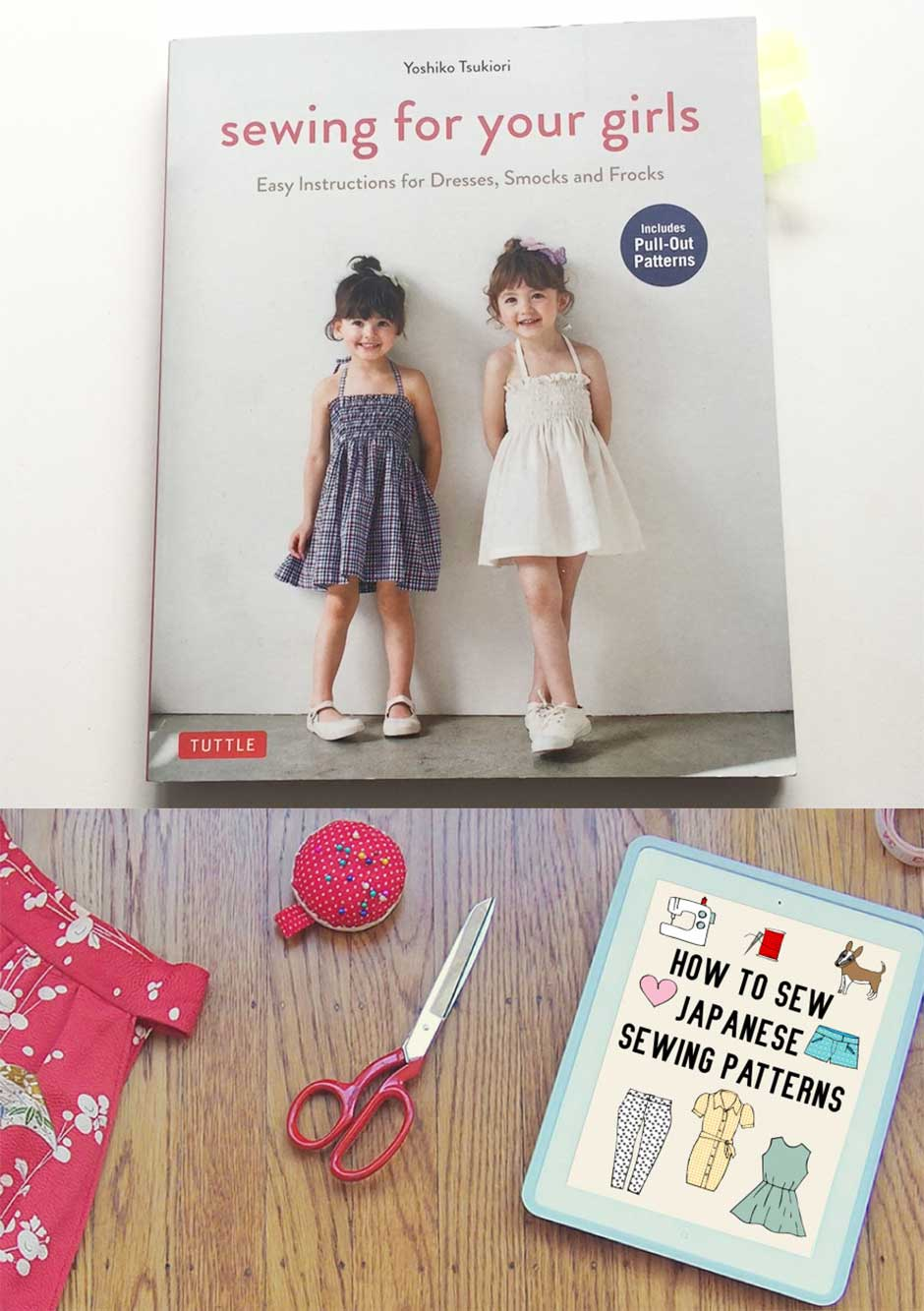 "WIN a copy of ""Sewing for your girls"" pattern book and ebook, ""How to sew Japanese sewing patterns""."