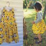 Retro Panda Print – Kids Apron Dress Sewing Pattern Review