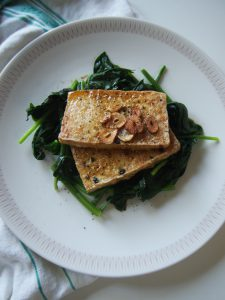 Tofu Steak with Sticky Garlic Glaze