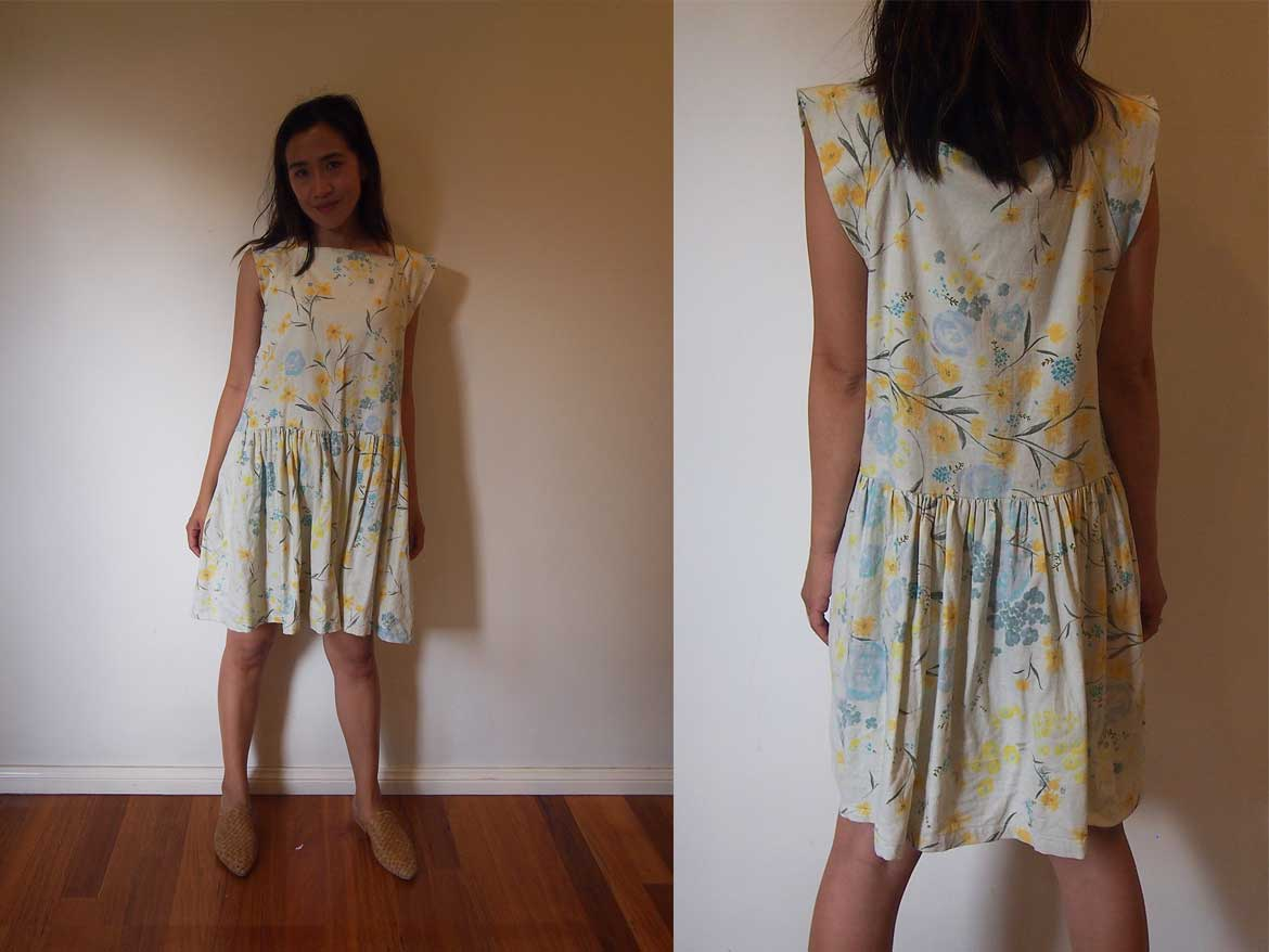 Japanese Cotton Dress from I Am Cute Dresses | I made this dress using Nani-Iro cotton fabric. More photos and book review at www.sewinlove.com.au