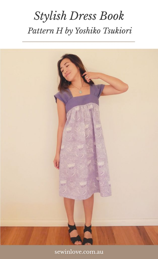 Yoshiko Tsukiori Patterns - Japanese sewing patterns are the best! This dress is from Stylish Dress Book, Pattern H. I made it in linen and batik. See more pics at www.sewinlove.com.au