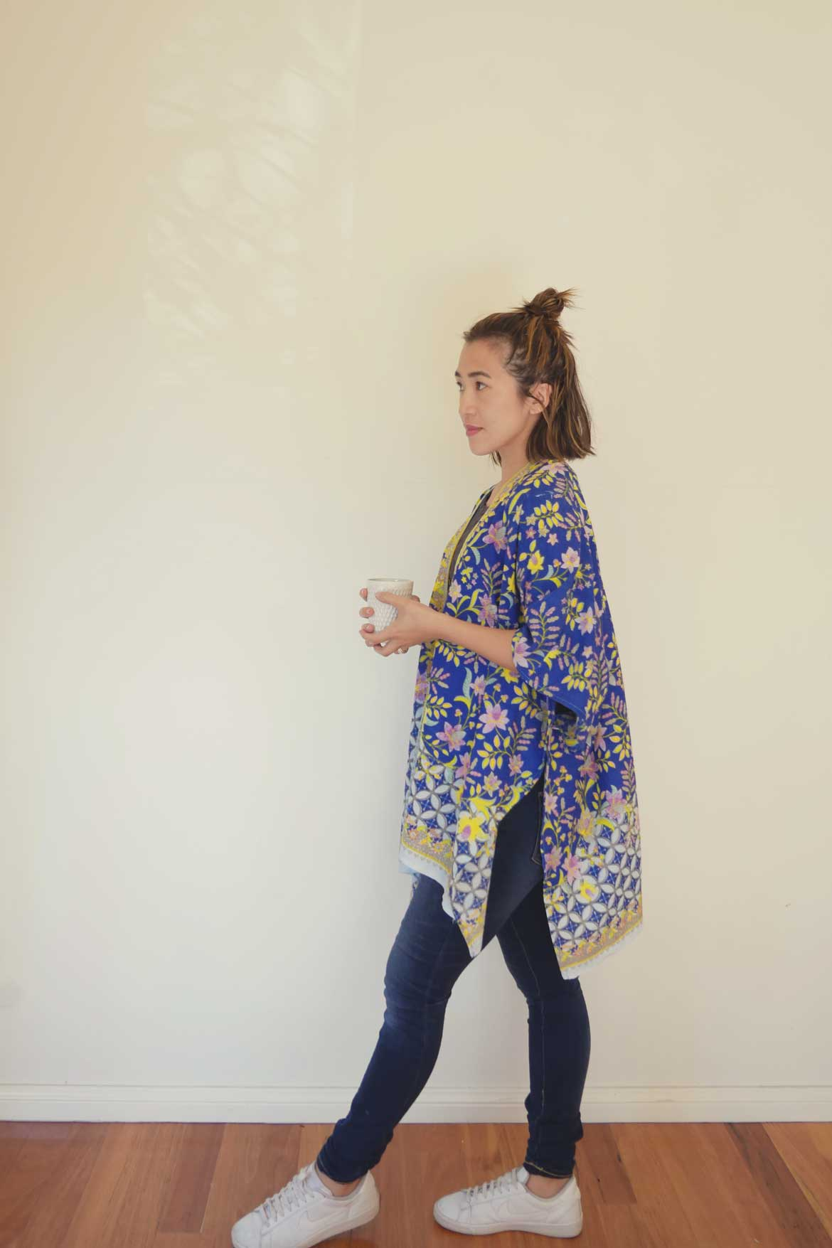 Kimono Sewing Pattern | Sew a kimono jacket with this easy sewing pattern. Also includes kimono outfit ideas. Kimono outfit summer, kimono outfit jeans and kimono outfit casual. More pics at www.sewinlove.com.au