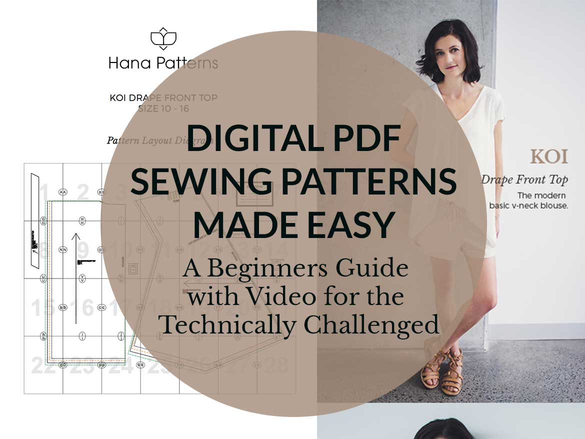 Digital Sewing Patterns Made Easy - Want to try pdf sewing patterns but feel intimidated? This beginner guide has step-by-step explanations with video to help you start sewing pdf sewing patterns. www.sewinlove.com.au