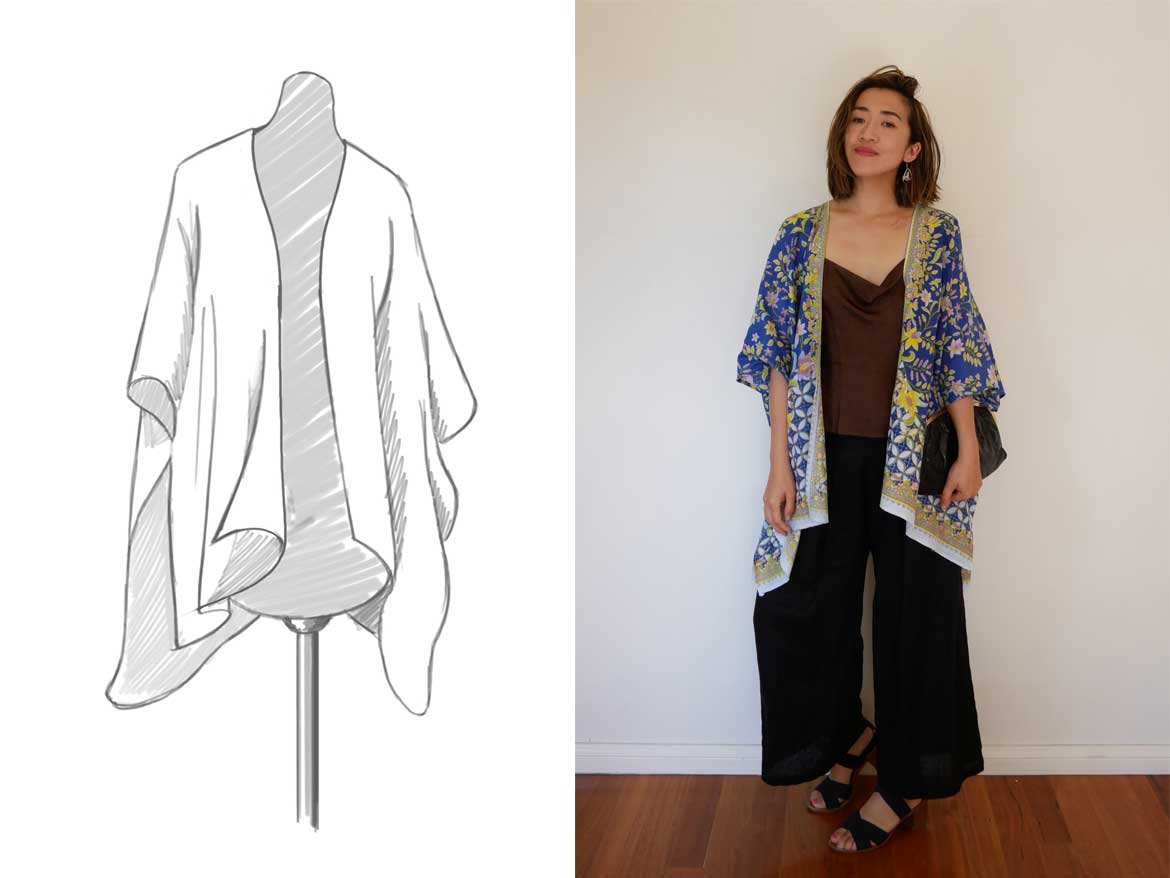 Kimono sewing pattern - Make a kimono AND 3 ways to wear it! www.sewinlove.com.au