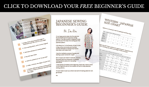 A free Beginner's Guide to Japanese sewing patterns.