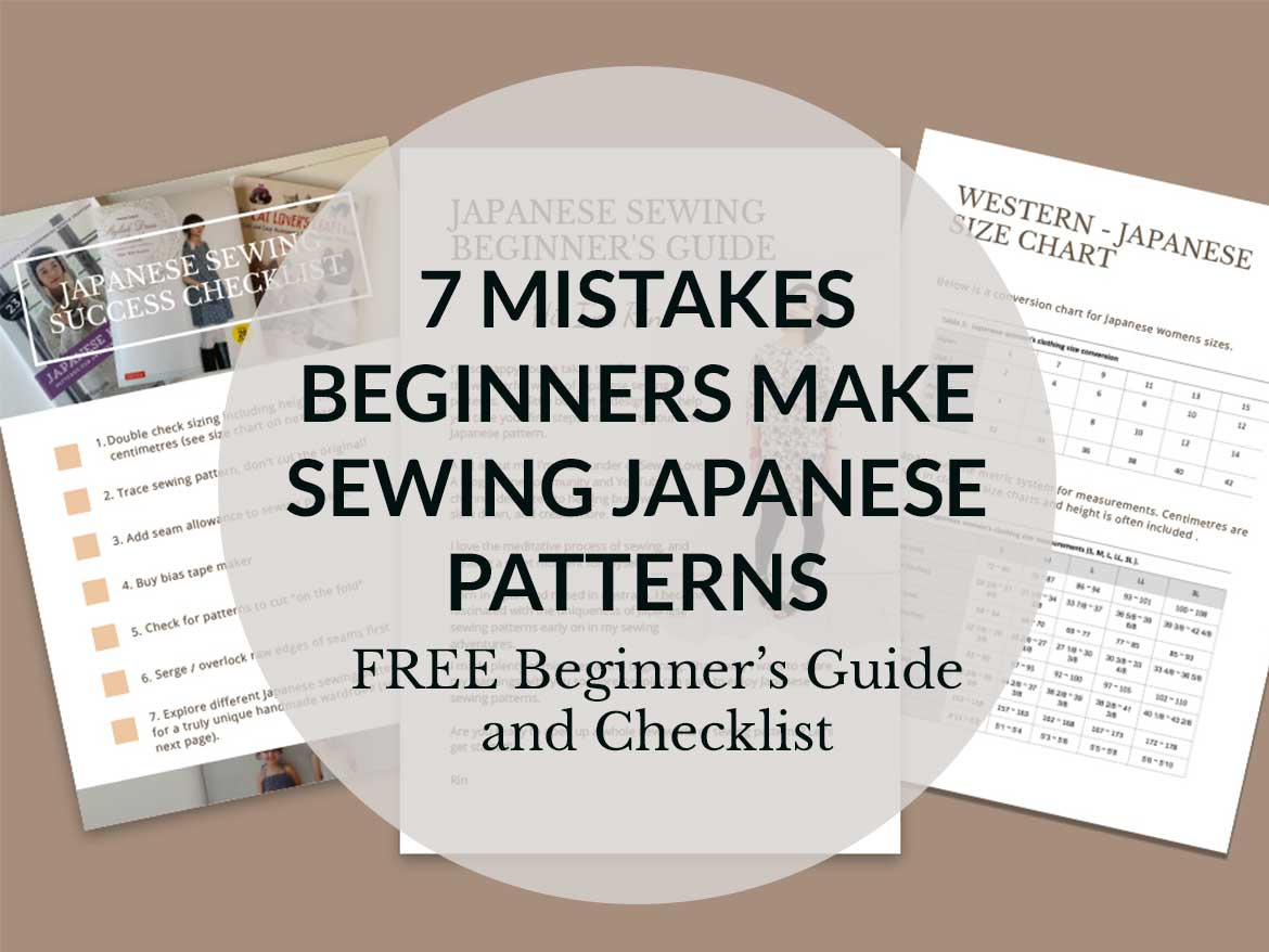 Curious, but confused about Japanese sewing patterns? Grab your free beginner's guide!