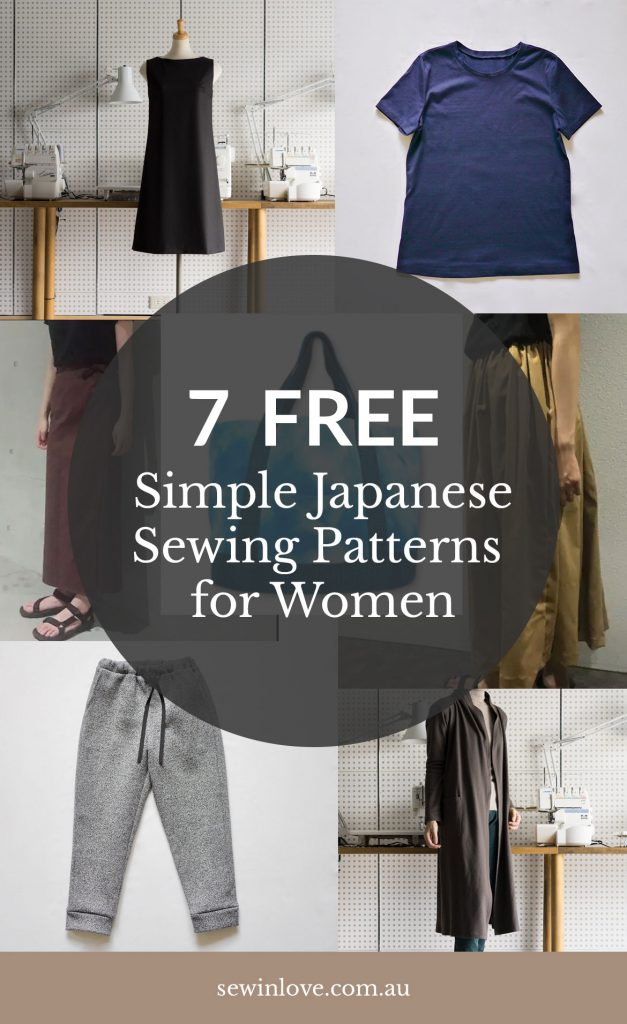 Free Japanese Sewing Patterns for Women | skirts, pants, coat, bag and top patterns, all free are available for download online. Get the list at www.sewinlove.com.au