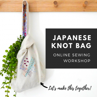 Japanese Knot Bag Sewing Workshop