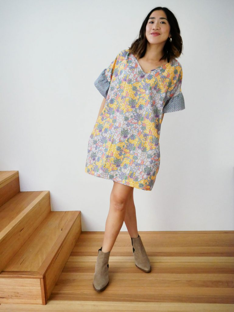 Free Ruffle Sleeve Dress Sewing Pattern + Tutorial | Free sewing pattern for women who are DIY lovers! Make your own ruffle sleeve dress using this free and easy sewing pattern and tutorial. Lots more fashion sewing at: https://www.sewinlove.com.au/