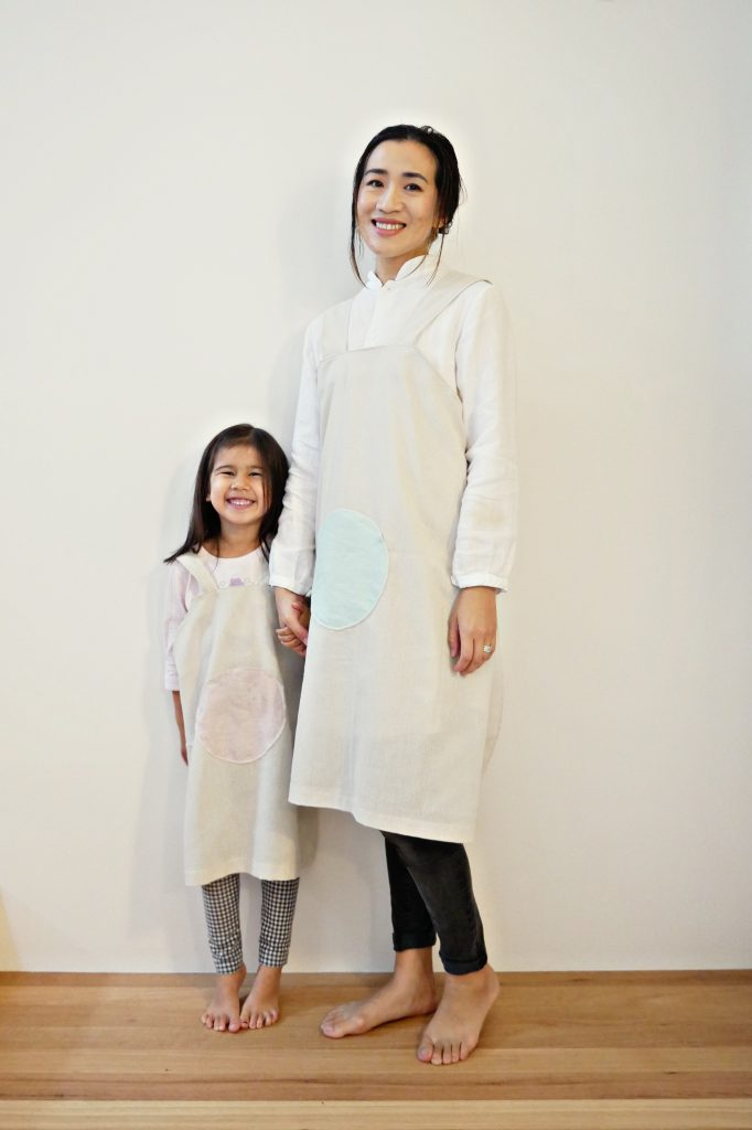 Cross Back Apron Pattern | Japanese Apron Pattern | Linen Apron  This apron sewing pattern for adults and kids comes in 6 sizes. It's perfect in linen, cotton and other mid weight fabrics. Buy the pattern at: https://shop.sewinlove.com.au/products/moon-cross-back-apron-pattern