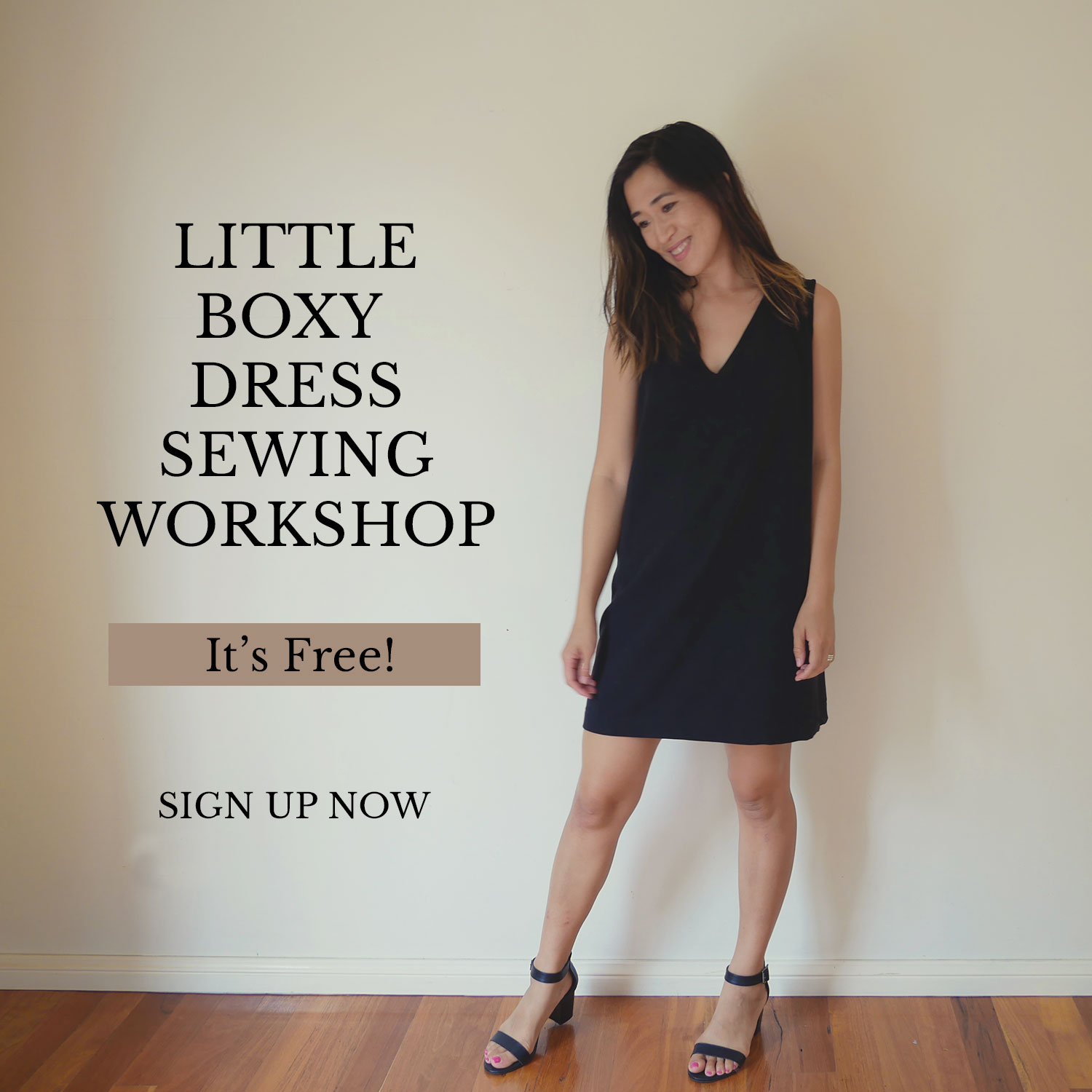 Free Little Boxy Dress Sewing Workshop